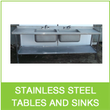 used steel catering tables