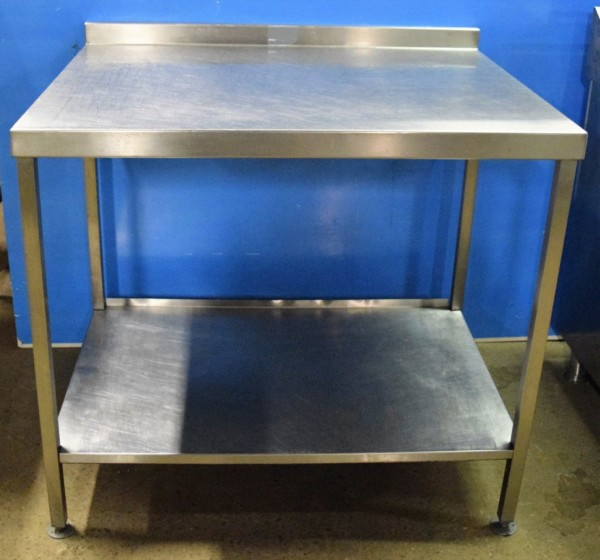 STAINLESS STEEL  Table with Undershelf 100cm x 80cm 1