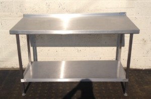 Moffat Stainless Steel Table with Undershelf and Upstand