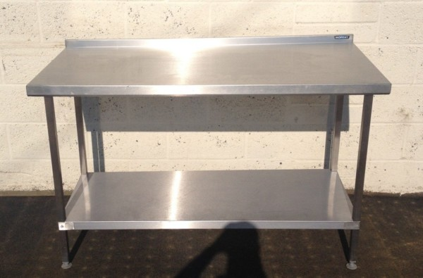 Moffat Stainless Steel Table with Undershelf and Upstand 1
