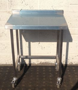 Stainless Table with Upstand
