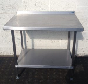 Moffat Table with Upstand and Undershelf