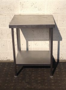 Small Stainless Table with Undershelf