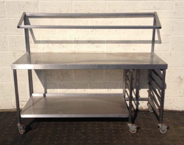 Stainless Table with Undershelf and Gastronorm Tin Gantry 1