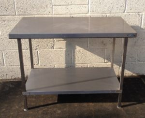 Stainless Moffat Table with Undershelf