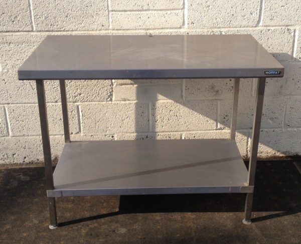 Stainless Moffat Table with Undershelf 1