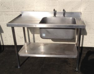 SISSONS Single Bowl Single left hand Drainer Sink