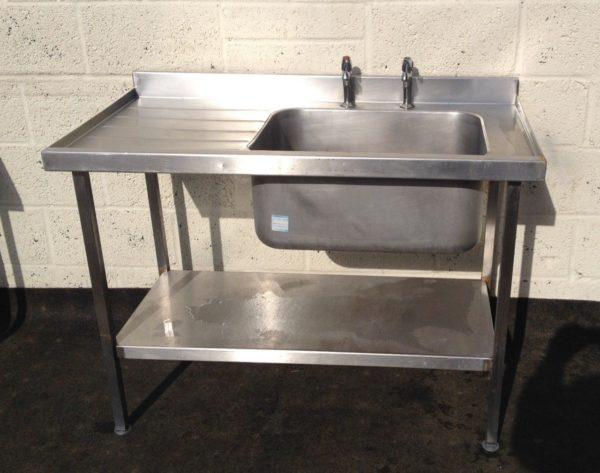 SISSONS Single Bowl Single left hand Drainer Sink 1