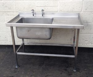 SISSONS Single Bowl Single Right Hand Drainer Stainless Sink