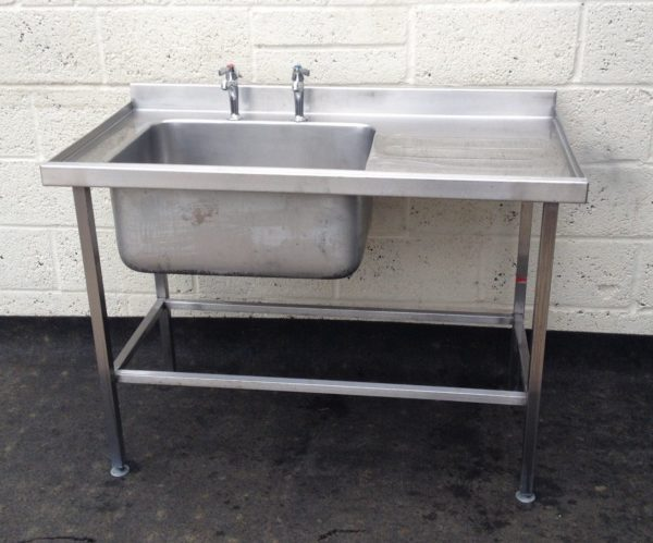SISSONS Single Bowl Single Right Hand Drainer Stainless Sink 1