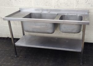 Double Bowl Left Hand Drainer Stainless Sink