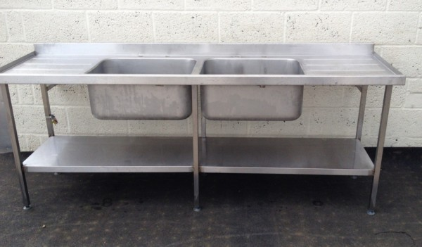 Double Bowl Double Drainer Stainless Sink 1
