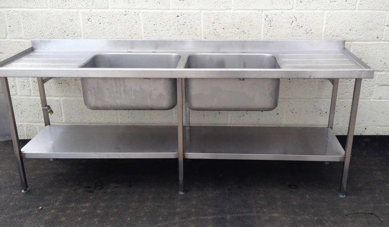 Double Bowl Double Drainer Stainless Sink