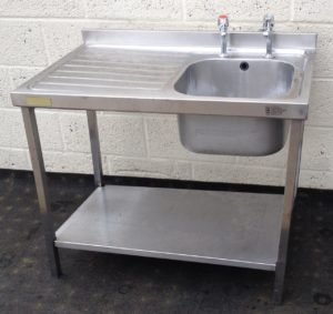 Single Bowl Left Hand Single Drainer Sink