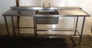 Single Bowl Double Drainer Stainless Sink