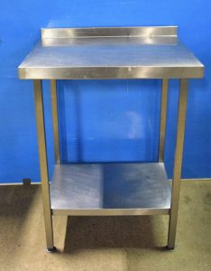STAINLESS STEEL  Table with Undershelf 70cm x 60cm