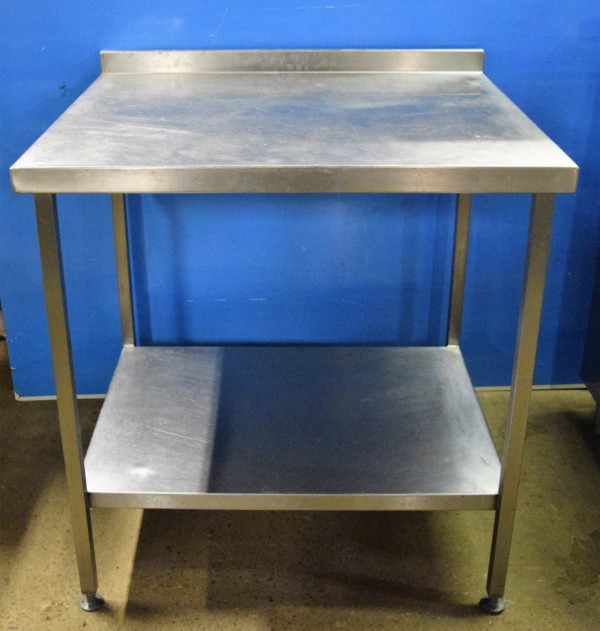 STAINLESS STEEL  Table with Undershelf 90cm x 80cm 1
