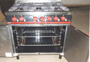 BARTLETT Yeoman 6 Burner Gas Range.