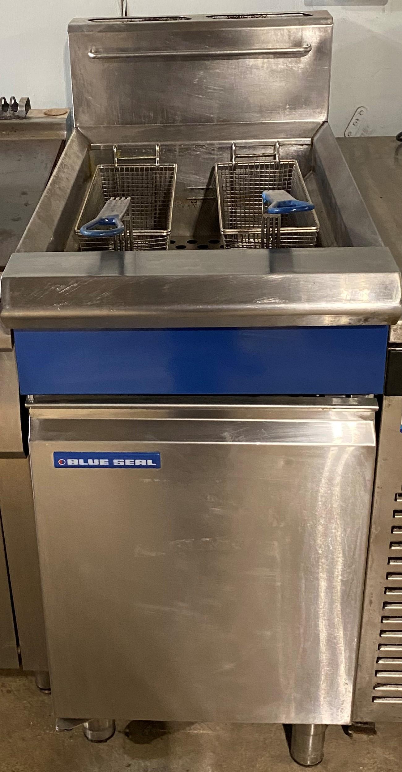 BLUE SEAL Single Well Twin Basket Gas Fryer