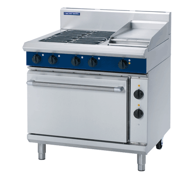 BLUE SEAL E505D 4 Zone Electric Range with Griddle & Oven