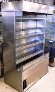 CARAVELL Chrome finish 5 Shelf Multideck Chilled Display