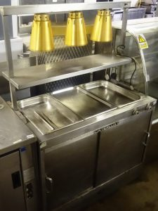 CATERLUX 3 Well Servery with Bell Light Gantry