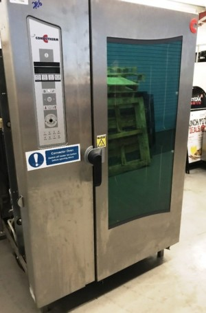 CONVOTHERM OE202 Electric 40 Grid Combi with Roll-In Trolley