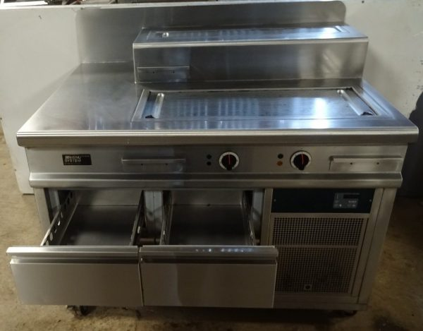MENU SYSTEM Bespoke Electric Griddle Station with Chilled Drawers – CLEARANCE ITEM