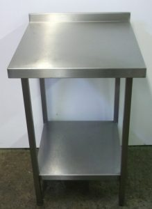 Stainless Steel Table With Upstand And Undershelf