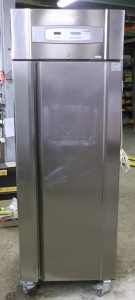 Caravell Stainless Finish Single Door Fridge