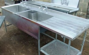 POT WASH Double Sink & Single Drainer