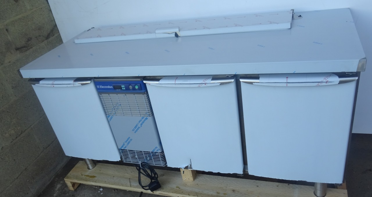 Electrolux RCDR3M30H 3 Door bench Fridge with Saladette - CaterQuip