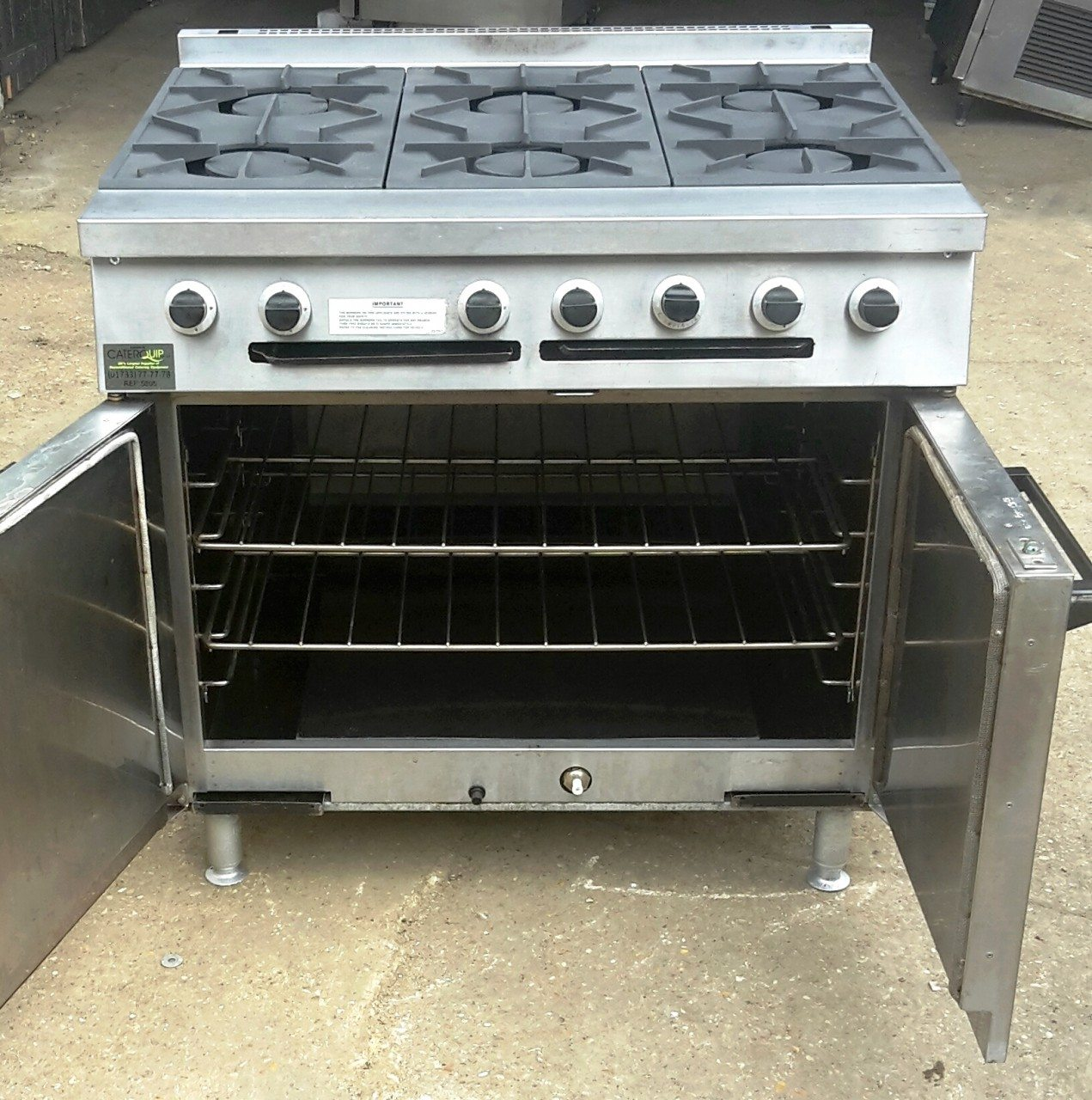FALCON Dominator 6 Burner Gas Range with Double Oven