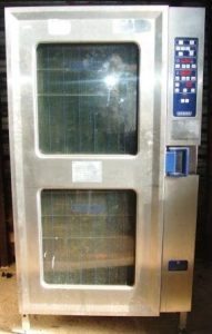HOBART CSD Electric 20 Grid Combi Oven with Roll In Trolley