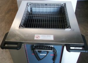 HUPFER Mobile Enclosed Heated Basket Dispenser
