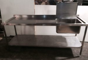 Single Bowl Left Hand Drainer Sink with Undershelf