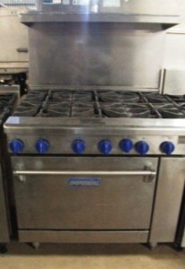 IMPERIAL Elite 6 Burner Gas Range with Oven