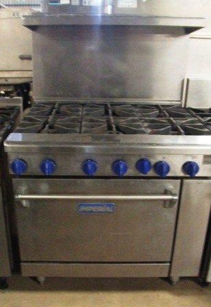 IMPERIAL Elite 6 Burner Gas Range with Oven