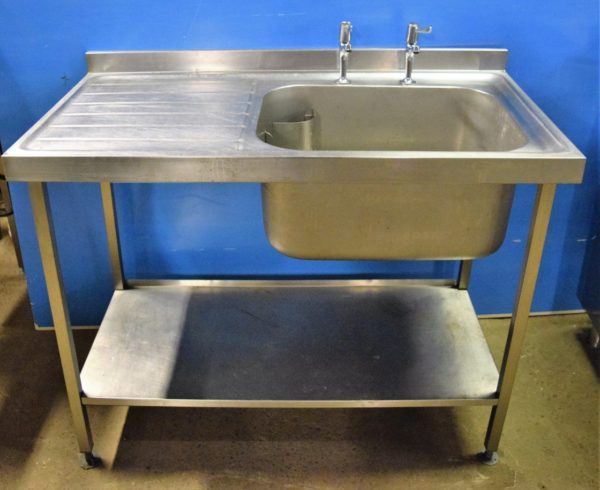 STAINLESS STEEL Single Right Hand Bowl Single Drainer Sink 1