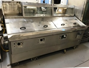 MALLISONS 3 Pan LPG Fish & Chip range on Wheels.