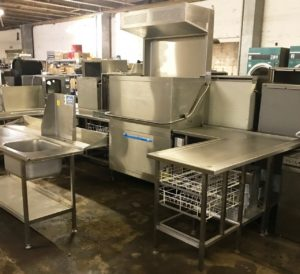 MeikO D200 Double Pass Through Dish Washer with Condensing Hood