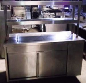 MOFFAT Double Heated Tier Chefs Pass with Hot Cupboard