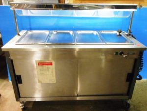 MOFFAT 4 Well Heated Servery with Heated Gantry & Hot Cupbaord