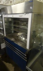 MOFFAT Chilled Multideck Food Display with Roller Shutter Door