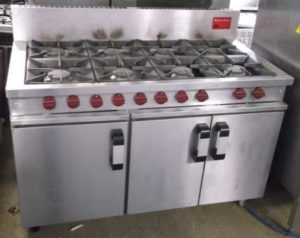 MOORWOOD VULCAN 8 Burner Twin Oven Gas Range