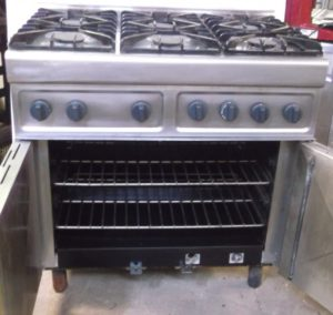 PARRY 6 Burner Gas Range with Oven