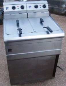PARRY Electric Twin well Fryer with Baskets