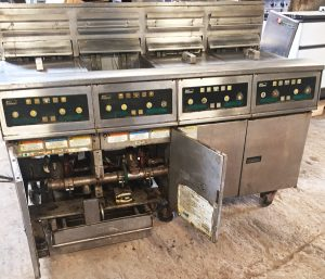 PITCO 4 Well Electric Fryer Suite