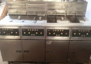 PITCO 8 Well Electric Fryer Suite