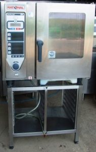 RATIONAL CPC Electric 6 Grid Combi Oven with Floor Stand CQC2408